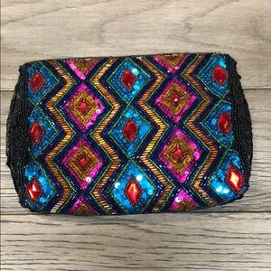 ⭐Fully beaded sequins coin purse